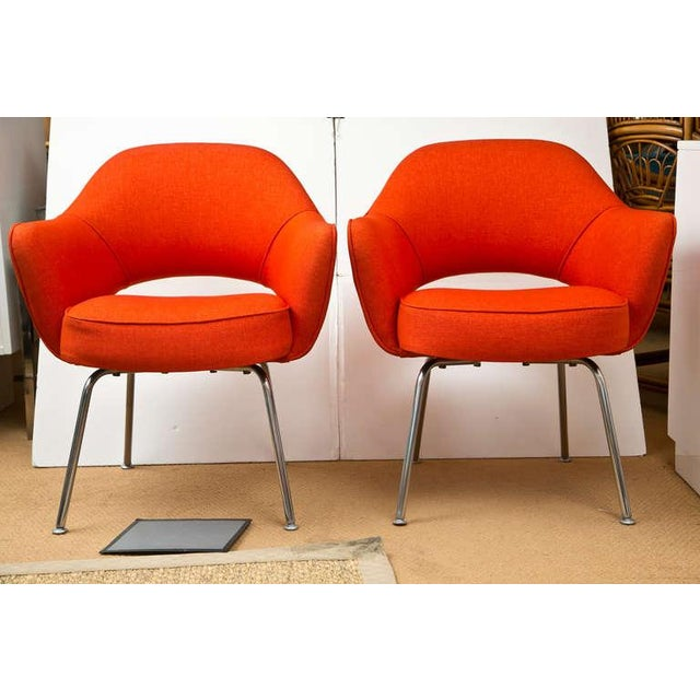 Mid-Century 1960s Set of Six Saarinen Executive Lounge Chairs - Image 8 of 8