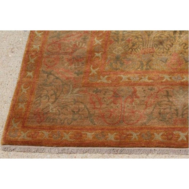 """Autumn Colored Wool Rug From Nepal -- 8'9"""" X 11'9"""""""