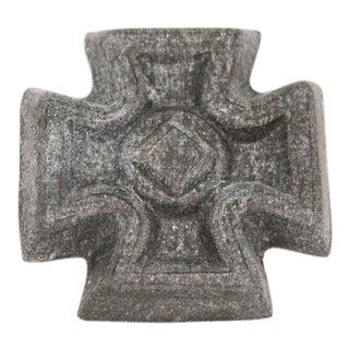 Gray Cross Applique