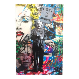 """Love Is the Answer"" Mr. Brainwash Original Lithograph Print Poster"