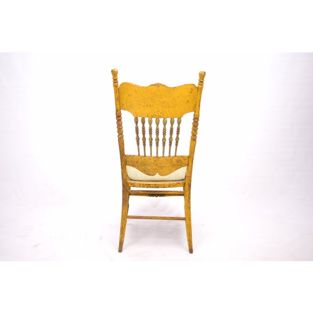 Antique Yellow Painted Chair - Image 5 of 6
