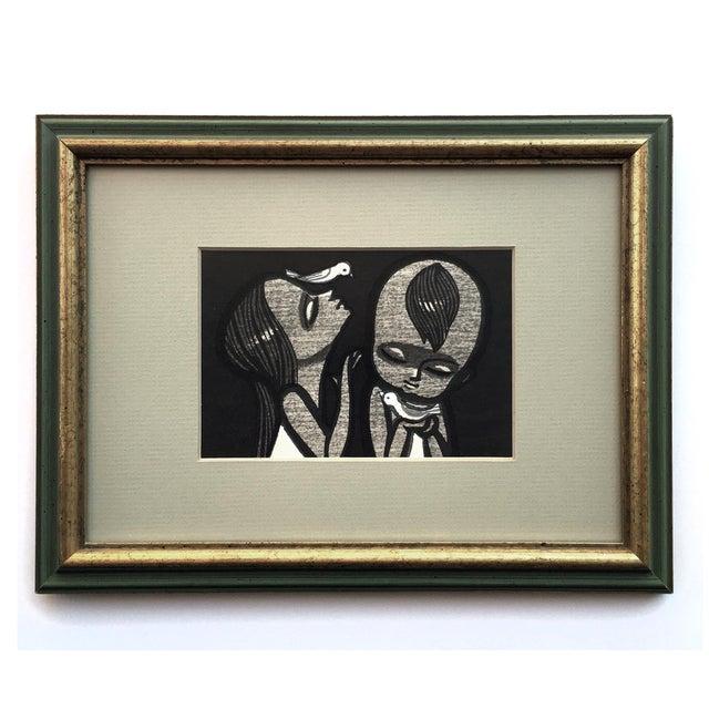 Shuzo Ikeda Ukiyo-E Woodcut 1960s - A Pair - Image 2 of 4