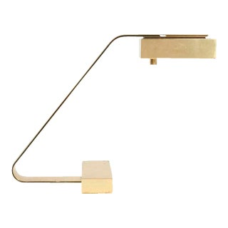 Casella Brass Flat Bar Cantilevered Table Lamp