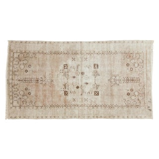 "Vintage Distressed Oushak Rug Runner - 3'2"" x 5'10"""