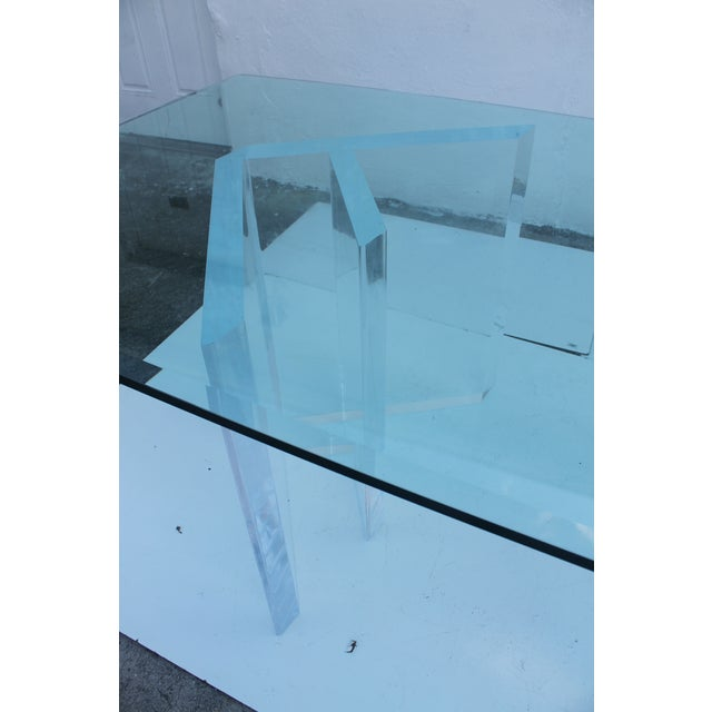 Sculptural Lucite & Glass Dining Table - Image 10 of 11