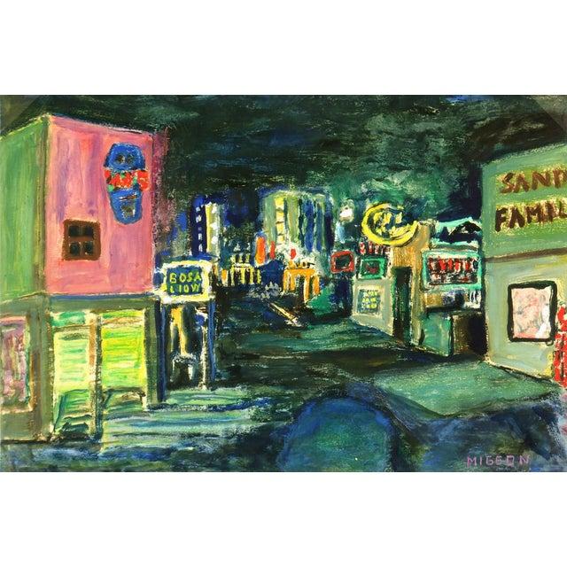 Modern Art Painting - Big City Nightlife - Image 1 of 4