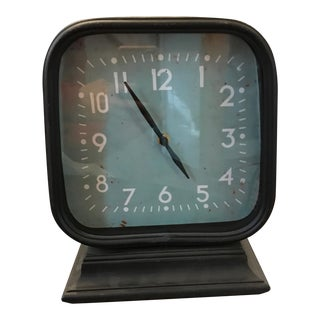 Industrial Double Sided Metal Table Clock