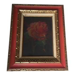 Vintage Original Rose Pastel Mid Century
