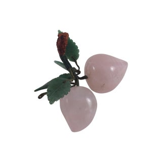 Rose Quartz And Jade Stone Fruit Apricots