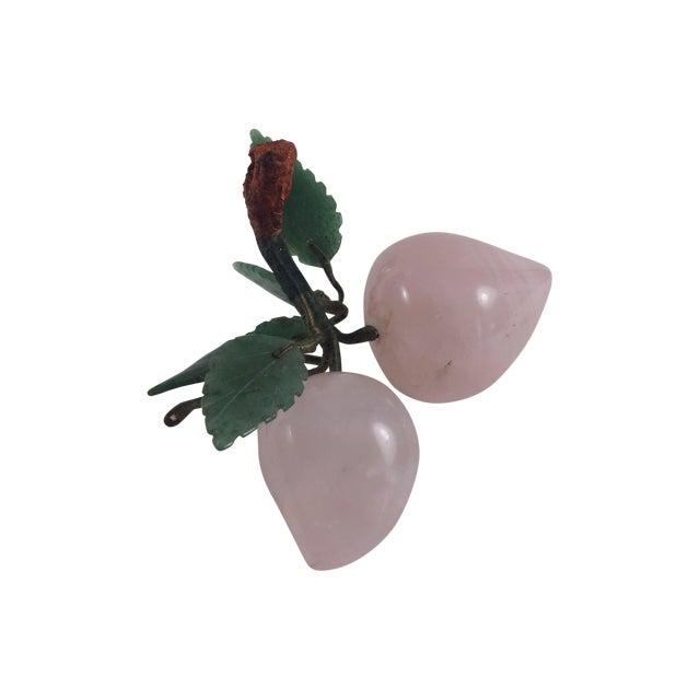 Image of Rose Quartz And Jade Stone Fruit Apricots