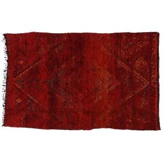 Vintage Berber Red Moroccan Rug 6 x 9