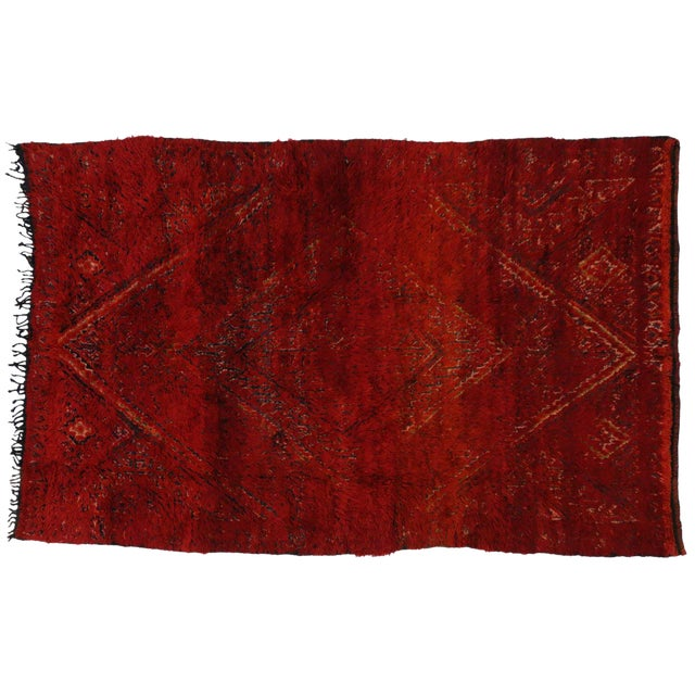 Vintage Berber Red Moroccan Rug 6 x 9 - Image 1 of 4