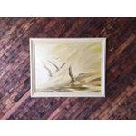 Image of Vintage Large Bird Painting by B. Buckner