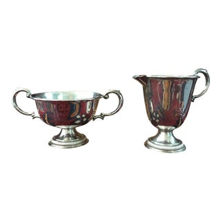Preisner Weighted Sterling Silver Creamer & Sugar Bowl