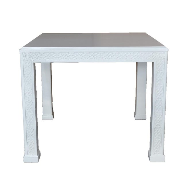 Large Chippendale-Style Fretwork Side Table - Image 5 of 5