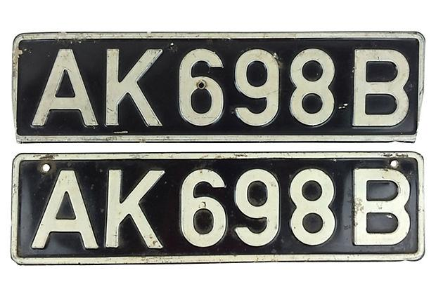 English License Plates Pair Chairish