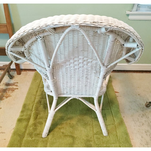 Vintage Wicker Fan Back Armchair - Image 5 of 5