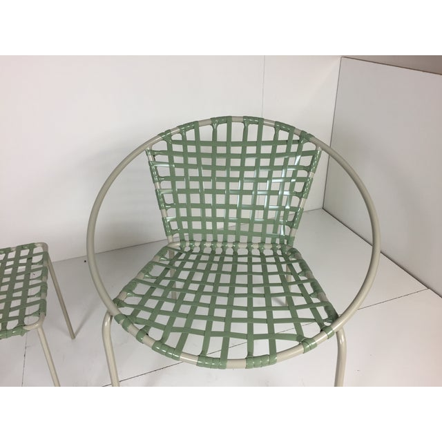 Image of Mid-Century Green Hoop Chairs - A Pair