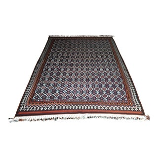 Large Iranian Turkish Kilim Rug Carpet - 6′8″ × 11′11″