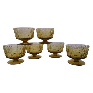 Amber Bamboo Sorbet Glasses- Set of 6