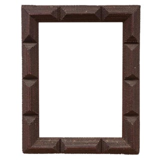 Tramp Art Frame with Mirror c. 1890's