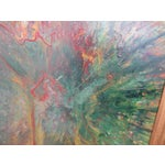 Image of Large Colorful 1960s Abstract Oil