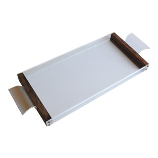Lucite & Wood Tray