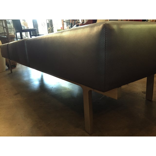 80s Keilhauer 3 Seat Indsutrial Modern Grey Bench - Image 8 of 10