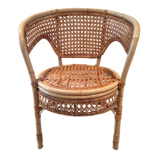 Vintage Bamboo & Cane Armchair