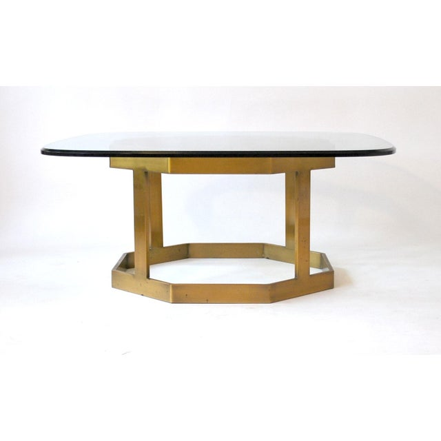 Milo Baughman Brass Coffee Table Base Chairish