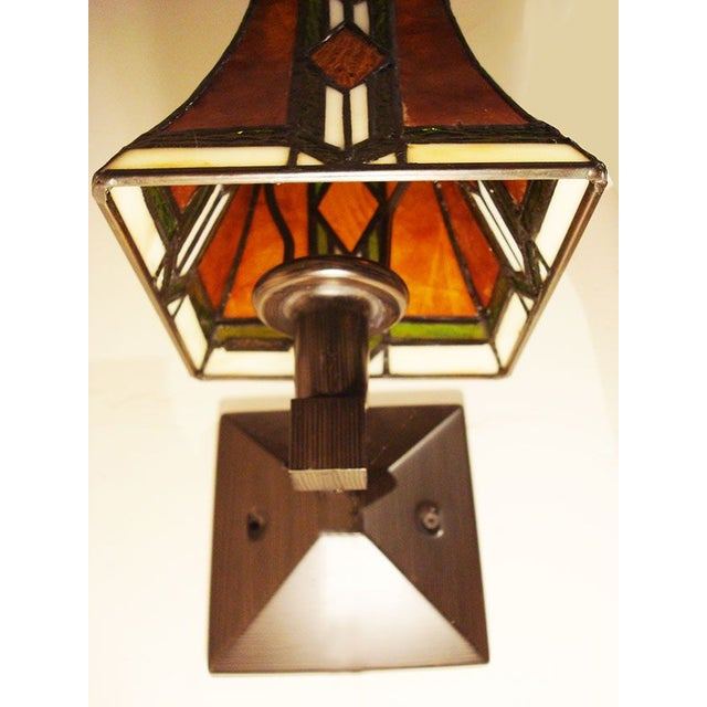 Tiffany Arts and Crafts Mission Style Sconces - Image 5 of 6