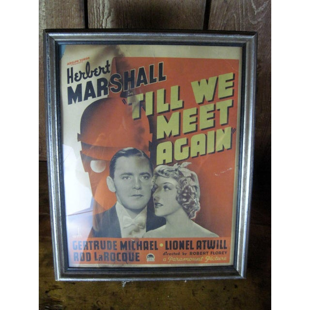 "Vintage Original Movie Poster ""Till We Meet Again"" Circa 1936 - Image 4 of 5"