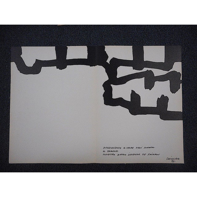 Vintage chillida lithograph derriere le miroir chairish for Miroir vanguard