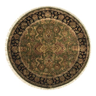 """Traditional Wool Round Rug - 4'11"""" X 4'11"""""""