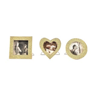 Three Mini Diamond Photo Frames by Milano Series