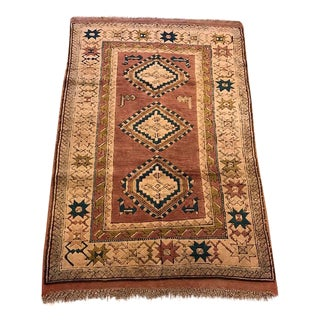Vintage Kars Turkish Semi-Antique Rug - 4' X 6'