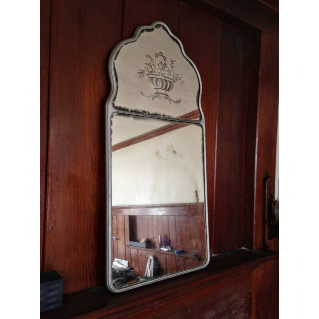 Large Vintage Etched Wall Mirror - Image 8 of 11
