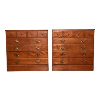 Ethan Allen Maple Bachelor Chests - A Pair