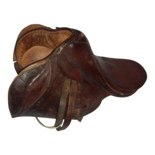 Antique English Leather Saddle Equestrian Decor