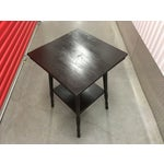 Image of Ebony Antique Spindle Leg Parlor Table