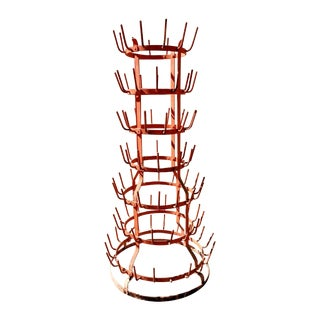Orange Wine Bottle Drying Rack