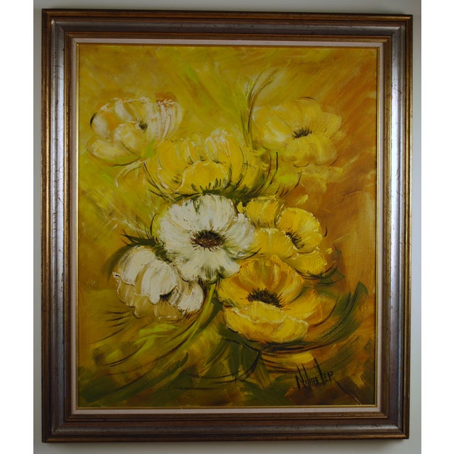 Mid Century Hollywood Regency Poppy Painting - Image 9 of 9