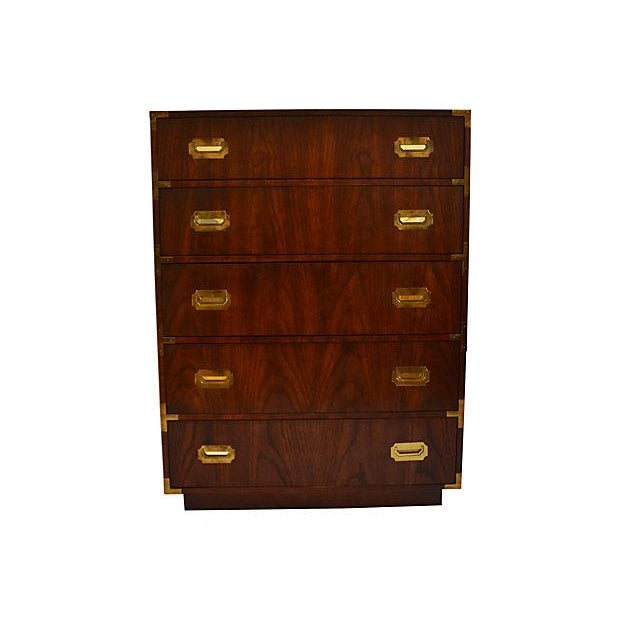 Campaign-Style Highboy Dresser by Dixie - Image 1 of 7