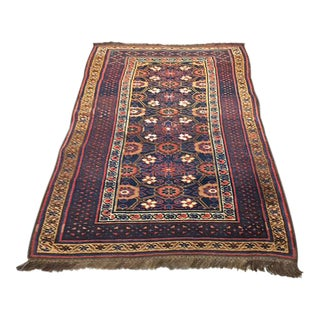 Antique Caucasian Floral Rug - 3′3″ × 5′