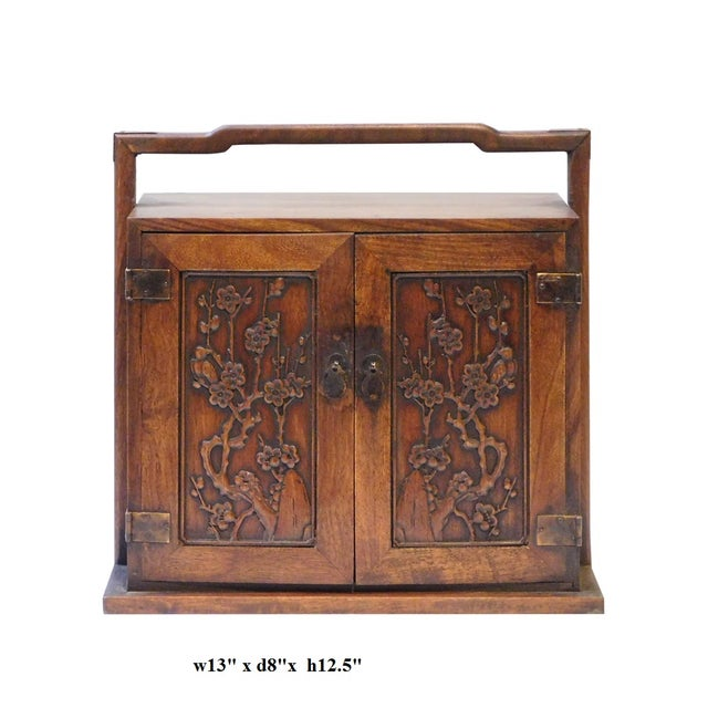 Chinese Rosewood Jewelry Box - Image 6 of 6