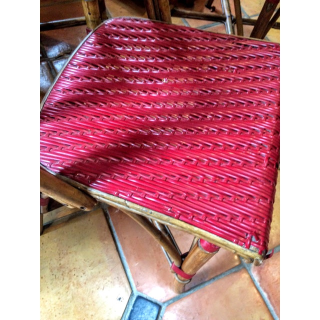 Vintage Woven French Bistro Chairs - Set of 6 - Image 11 of 11
