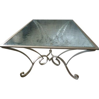Century Furniture Glass Top Coffee Table