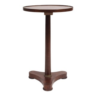 Walnut Empire Gueridon on Tripod Stand