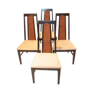 Mid-Century Modern Cane Back Ebonised Chairs - 4
