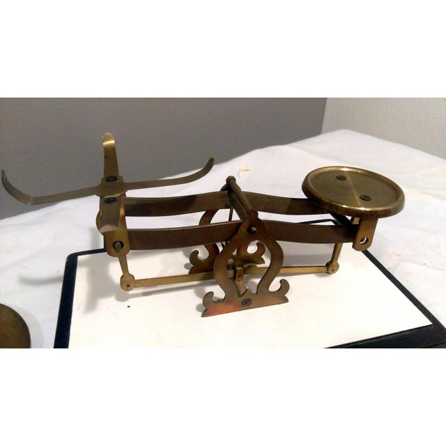 Antique Brass Pharmacy Scale - Image 7 of 9